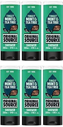 Original Source Tea Tree & Mint Shower Gel 250ml - (Pack of 6) (Gel Original Shower Source)