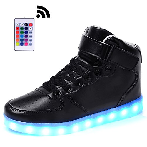 Odema Unisex Top Top Led Light Up Scarpe Sneakers Lampeggianti Mens Donna Ragazze Ragazzi Nero