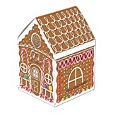 Beistle 1-Pack Gingerbread House Party Table Centerpiece, 8-Inch