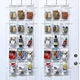 "2 Pack - SimpleHouseware Crystal Clear Over the Door Hanging Pantry Organizer (52"" x 19"")"