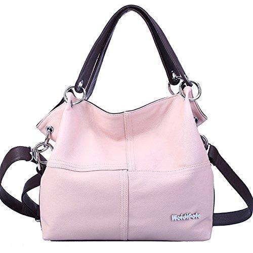 pour Main Femme clair Mode Porté rose à Sac à Weidilopo Super la Sac Besace Cuir Bandoulière Epaule Sacoche PU q6RxnCXwaZ