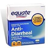 Equate - Anti-Diarrheal, Loperamide 2 mg, 24 Caplets (Compare to Imodium A-D)