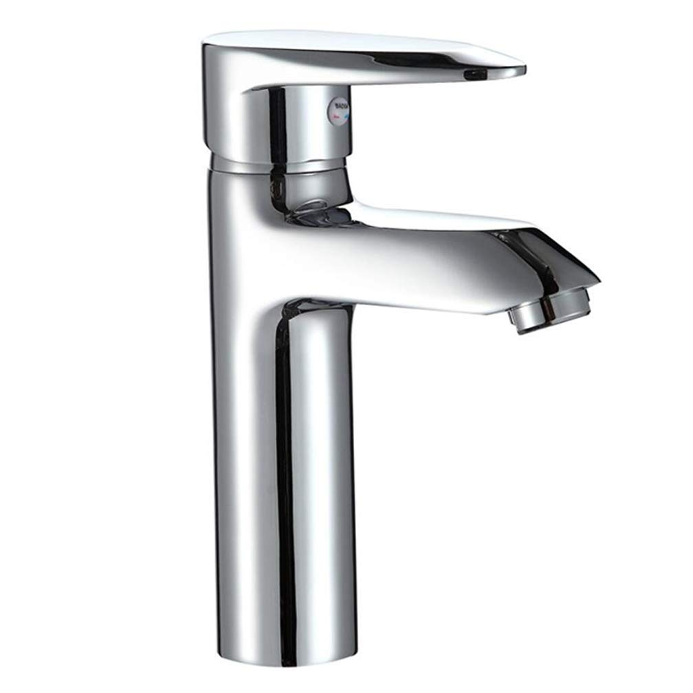Rubinetto del bagno, valvola del lavandino, controllo unico dell'acqua fredda e calda del foro, processo di rivestimento pieno del rame, vanità del bagno della cucina, installazione dei posti a sedere Prezzi