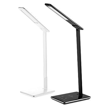 Lámpara De Escritorio LED Con Carga Inalámbrica Qi, 4 Modos ...