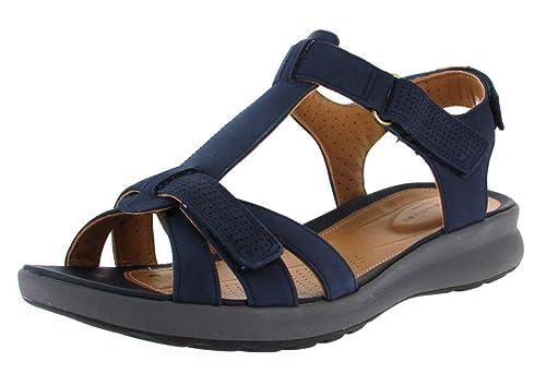 Clarks Damen Sandaletten Womens 261417214 blau 663340