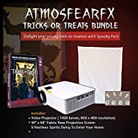 Atmosfearfx Windowfx Tricks And Treats Video Projector Bundle. Includes Projector, Dvd And Window Projection Screen.