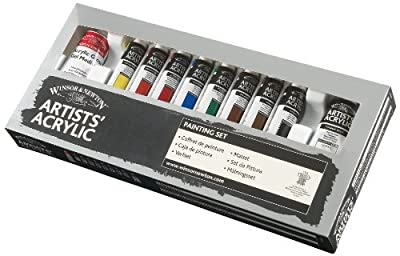 Winsor & Newton Artists Acrylic Paint Painting Set (8x20ml) by Winsor & Newton