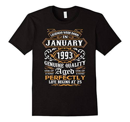Legends Were Born In January 1993, 25th Birthday Gift Shirt
