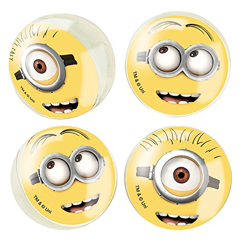 Despicable Me Minions Bouncy Ball Party Favors, 4ct