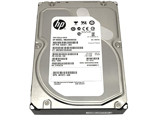 HP (MB2000EBZQC) 2TB 7200RPM 64MB Cache SATA 6.0Gb/s 3.5inch Internal Hard Drive (PC, Mac, NAS, CCTV DVR) - w/1 Year Warranty (Information Hp Warranty)