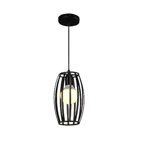 Lámpara De Iluminación Colgante Industrial, Metal Negro Retro ...