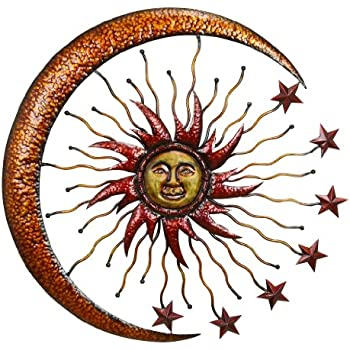 indoor art face sun terracotta blue round southwest decor relief half large metal online wall decorations lovely outdoor moon outdo