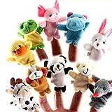 Animal Finger Puppet Set Toy Educational Toys Storytelling Doll 10 Pcs