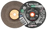 Walter 15L853 FLEXCUT Mill ScaleFlexible Grinding Wheel [Pack of 25] - A-36-FLEX Grit, 5 in. Abrasive Wheel with Arbor Hole. Angle and Die Grinder Wheels