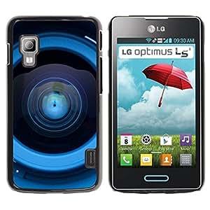 PC/Aluminum Funda Carcasa protectora para LG Optimus L5 II Dual E455 E460 Lens Reflection / JUSTGO PHONE PROTECTOR
