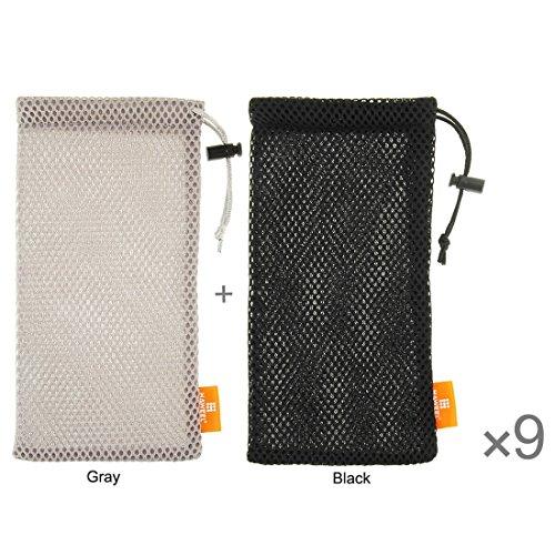 Wkae Case Cover 18 PCS gemischte Farben HAWEEL Nylon-Mesh-Beutel-Beutel-Kit mit Zuckerdosen Paket für iPhone 6 Plus / 5,5-Zoll-Handy, Größe: 18,5 cm x 9 cm