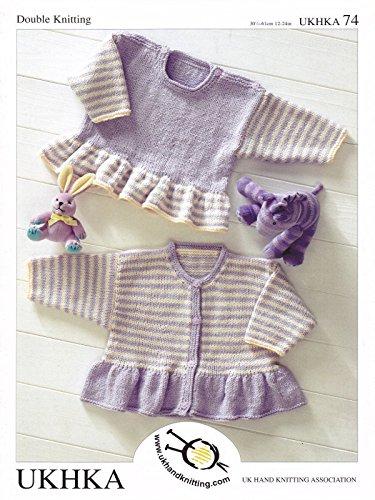 2a12c4bf5 UK Hand Knit Association Baby Knitting Pattern - UKHKA 74  Amazon.co ...