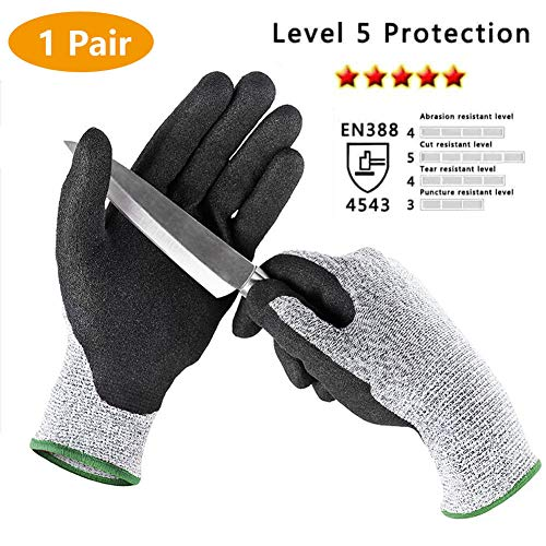 Yard Gloves Cut Resistant Gloves Anti-Slip High Performance Level 5 Protection Safety Kitchen Outdoor Yard Work Auto Repair Flexible Breathable Cool Stretchy Work Gloves ... ()