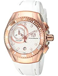 Technomarine Womens Cruise Quartz Stainless Steel and Silicone Casual Watch, Color:White (Model: TM-115381)