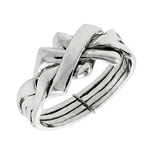 Sterling Silver 4 Piece Puzzle - 7