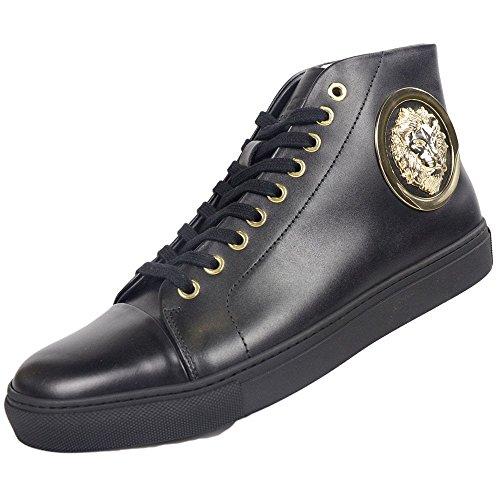pour Noir Versace Homme Mode Baskets Noir Noir qnaaz6EwY