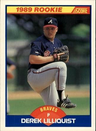 Amazon 1989 Score Baseball Rookie Card 631 Derek Lilliquist Mint Collectibles Fine Art