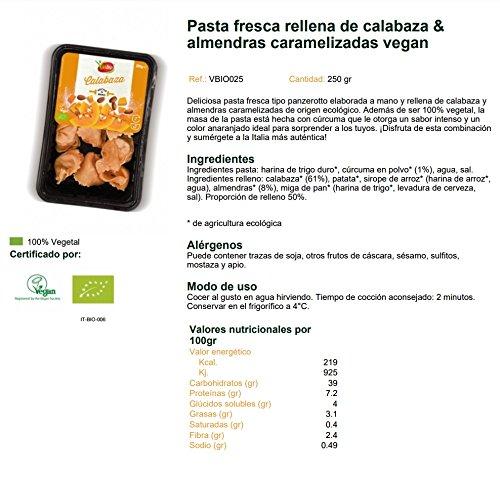 Pasta fresca rellena de calabaza y almendras caramelizadas vegan - 250 gr: Amazon.es: Alimentación y bebidas
