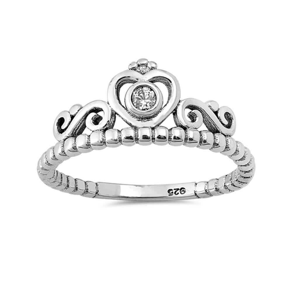 Sterling Silver Tiara Ring 9mm
