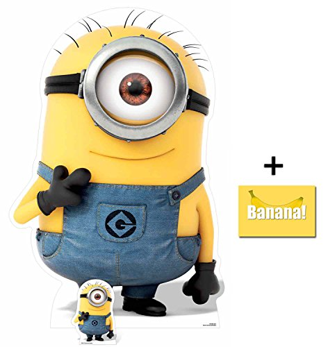 Fan Pack - Carl Minion Despicable Me 3 Minions Lifesize and Mini Cardboard Cutout / Standup / Standee - Includes 8x10 Star Photo