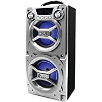 Sylvania SP328-Silver Portable Bluetooth Speaker