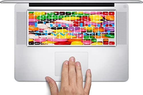 Jelly Beans Quote Im Too Sweet Printed Design Keyboard Decals by Smarter Designs for 12 inch MacBook