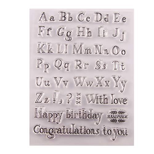 Haayward Happy Birthday Silicone Clear Stamp Seal DIY Scrapbook Embossing Album Decor Craft Art