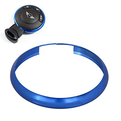 runmade Aluminum Alloy Key Rings Shell Remote Control Key Ring Trinket Key Rings Blue Wheel Ring Compatible with BMW Compatible with Mini Cooper JCW R55 R56 R57 R58 R59 R60 R61: Automotive