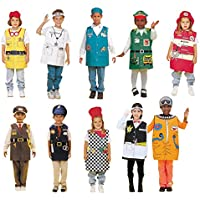Childcraft Occupations Costumes with Hats for Children (Set of 10)