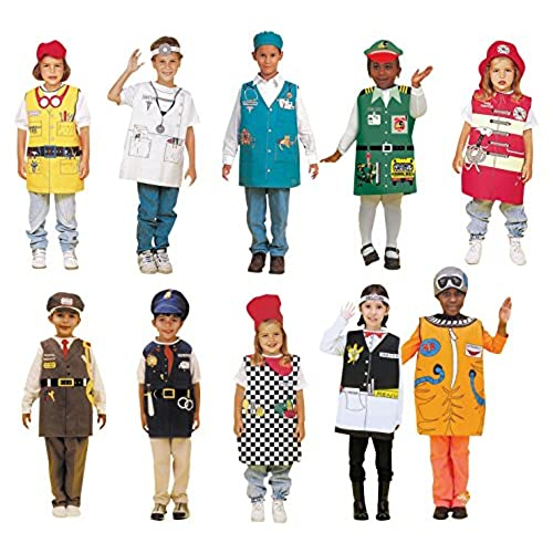 Dexter Occupations Costumes with Hats for Children (Set of 10)