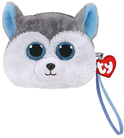 ac35a649fcd Amazon.com  TY Gear Beanie Boos SLUSH the Husky Dog Wristlet Coin ...