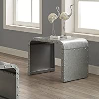 Coaster End Table in Galvanized