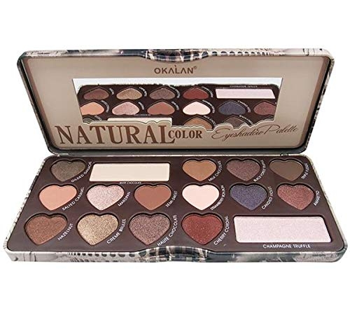 Okalan Natural Color Eyeshadow Palette – 16 Colors