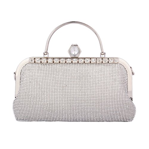 Damara Gold Wedding Shiny Handbag Rhinestone Snap Evening Womens On Bag pqUxrwp