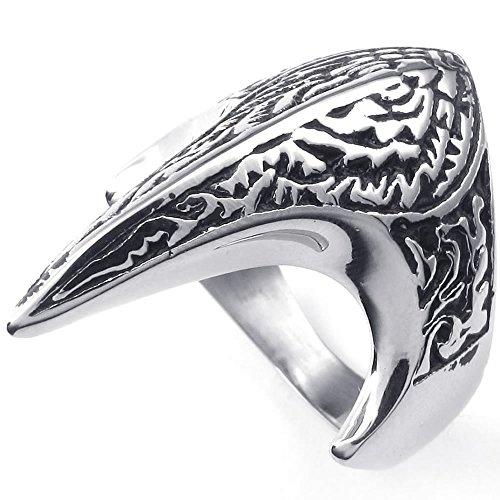 KONOV Stainless Steel Phoenix Silver