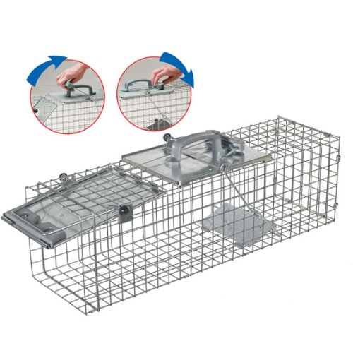 Havahart 1084 Easy Set One-Door Cage Trap for Rabbits, Skunks, Minks and Large Squirrels by Havahart (Image #2)