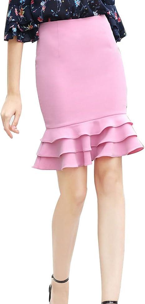 Mujer Faldas Largas De Cola De Pescado Elegante Cintura Alta ...