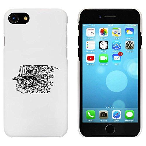 Blanc 'Motif Tête Steampunk' étui / housse pour iPhone 7 (MC00073622)