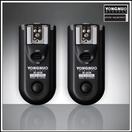 Yongnuo RF-603 2.4GHz Wireless Flash Trigger/Wireless Shutter Release Transceiver N1 Kit For NIKON D300 D700 D800 D3 Series by Yongnuo