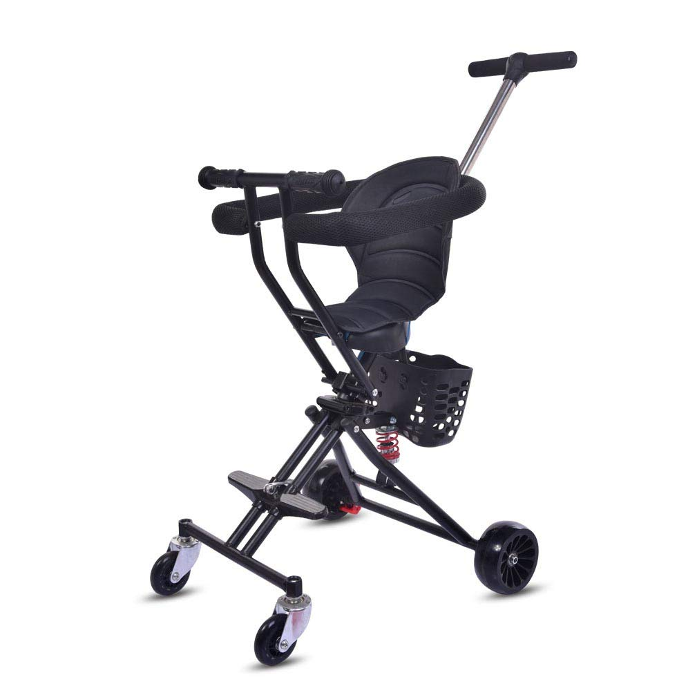 YXGH@ Children's Folding Trolley Rollover Prevention 2-3-5 Years Old Children's Tricycle Lightweight Stroller Baby Carriage