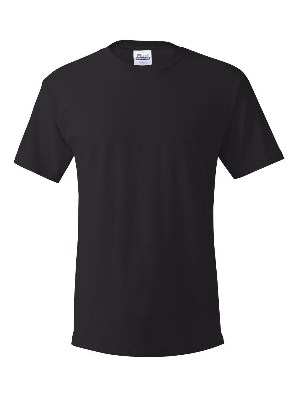 Hanes Men's Comfortsoft T-Shirt (Pack Of 4),Black,Medium