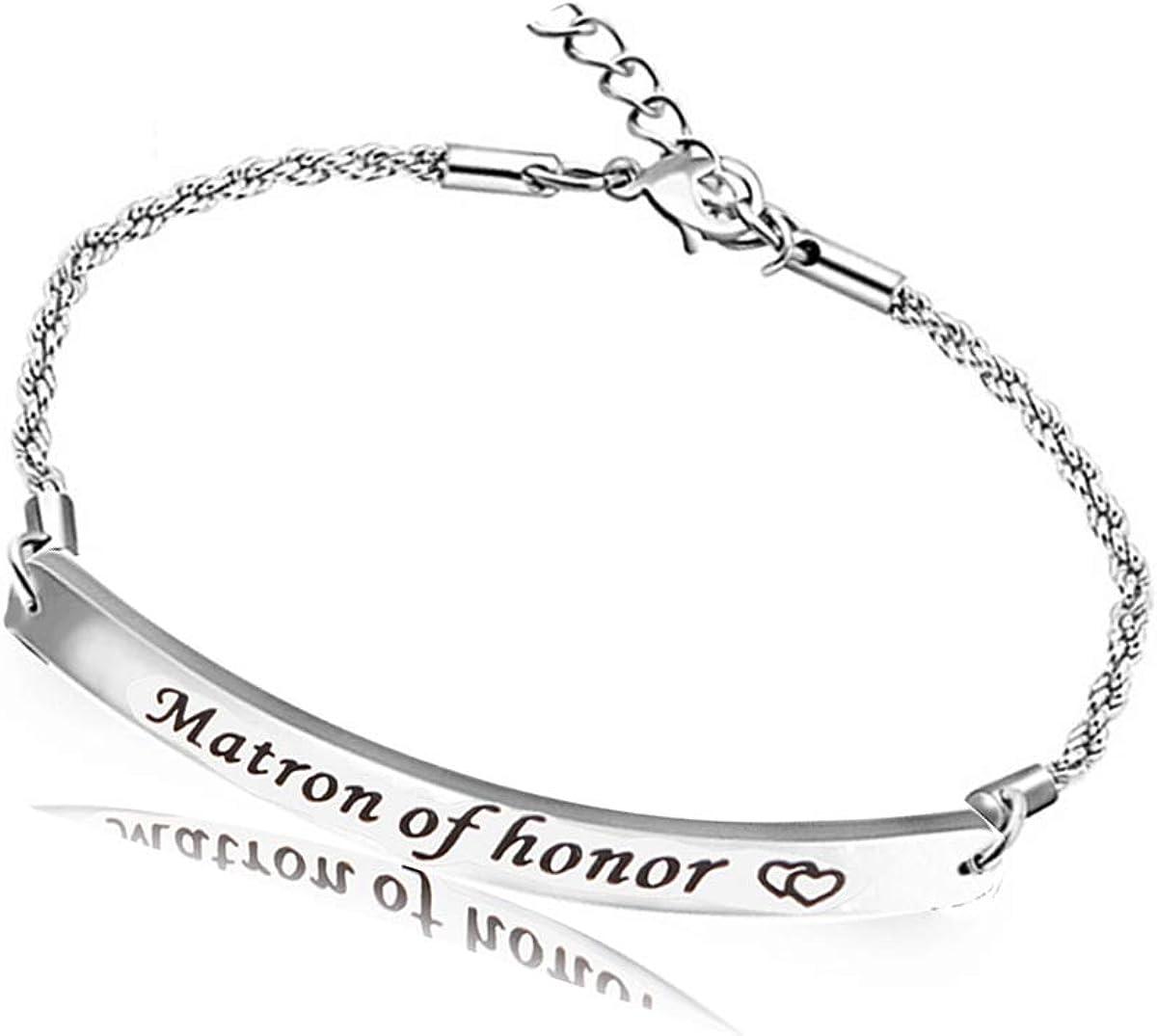 REEBOOO Matron of Honor Gift Matron of Honor Jewellery Bridesmaid Bracelet