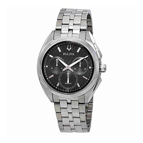 Bulova Men's 45mm CURV Collection Stainless Steel Chronograph ()