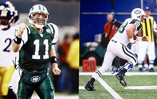KELLEN CLEMENS & SEAN RYAN AUTOGRAPHED Hand SIGNED NEW YORK JETS 8X10 PHOTOS w/COA