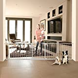 Bindaboo Hallway Pet Gate, Swing Closed, White